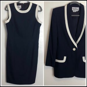 Vintage Oleg Cassini Dress & Blazer Set WITH TAGS